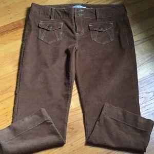 Aeropostale corduroy caramel colored crop pants